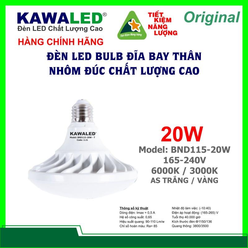 ĐÈN LED ĐĨA BAY UFO BND115-20W-T/V