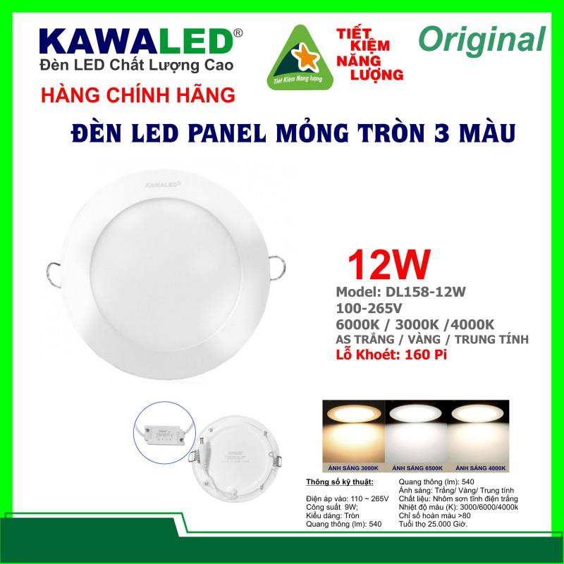 ĐÈN LED MỎNG TRÒN 3 MÀU DL158-12W-T/V/TT