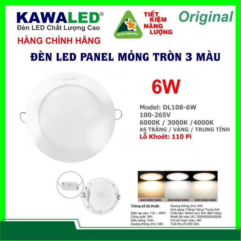 ĐÈN LED MỎNG TRÒN 3 MÀU DL108-6W-T/V/TT
