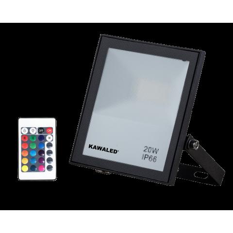 ĐÈN PHA LED ĐỔI MÀU FL20W-RGB2