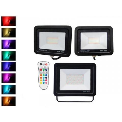 Đèn pha led đổi màu, đèn pha led 7 màu, đèn pha đổi màu chính hãng FL20W-50W-RGB