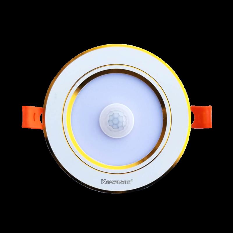 ĐÈN LED ÂM TRẦN CẢM ỨNG HỒNG NGOẠI DSB7W T/V (VIỀN VÀNG)