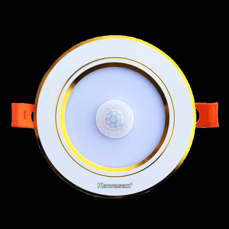 ĐÈN LED ÂM TRẦN CẢM ỨNG HỒNG NGOẠI DSB9W T/V VIỀN VÀNG