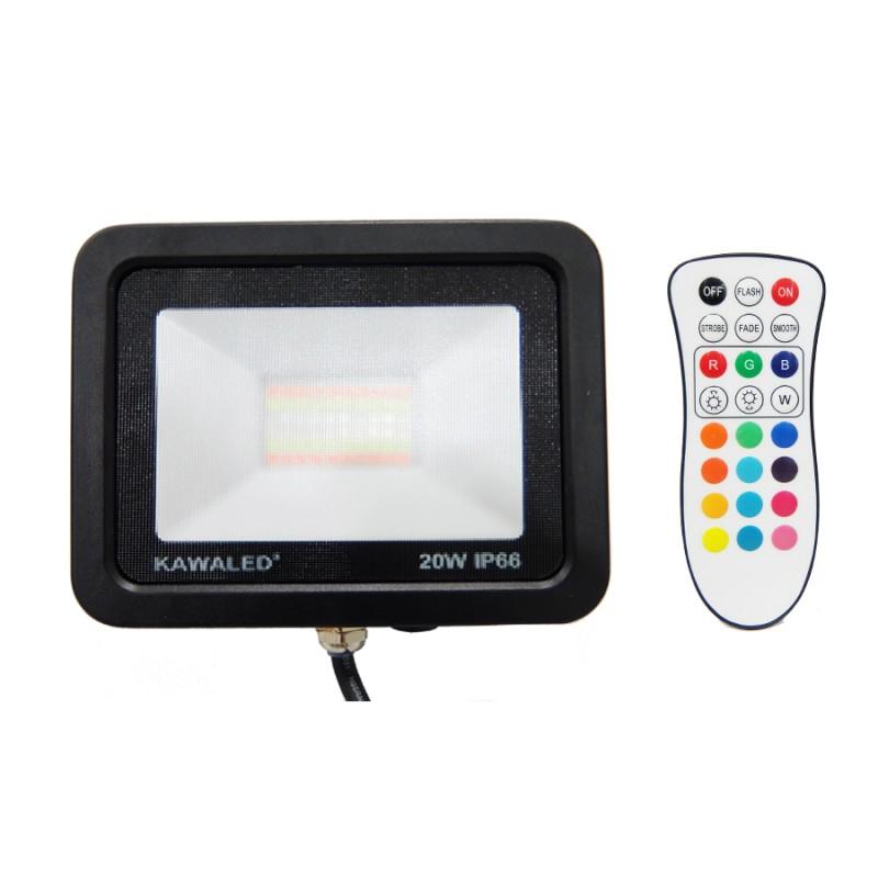 ĐÈN PHA LED ĐỔI MÀU FL20W-RGB