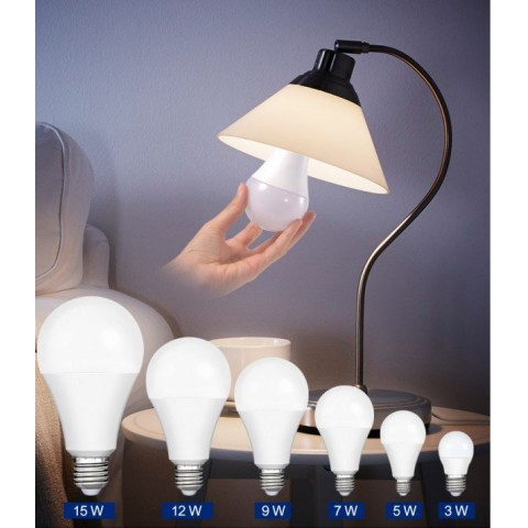 Đèn led giá rẻ, bóng đèn led tròn, bóng đèn tròn tiết kiệm điện, đèn led búp tròn A50-3W-15W-01