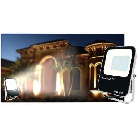 Bóng led pha, đèn led pha ngoài trời, đèn hắt biển quảng cáo, giá đèn pha led 50w FL2-50w